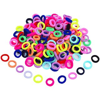 50 Pieces Assorted Colors Mini Elastic Soft Rubber Hair Bands For Baby Girl