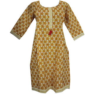 K T Collection Cotton Maternity Feeding Kurti With Vertical Zippers Size XL