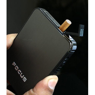 MOCOMO Focus Ultra Thin Cigarette Case with inbuilt Cigarette lighter