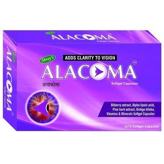 Shrey's Alacoma for Diabetic Retinopathy  Glaucoma (Pine Bark Extract) - 30 Capsules