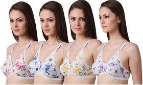 Women's Printed Bra (Pack of 4)