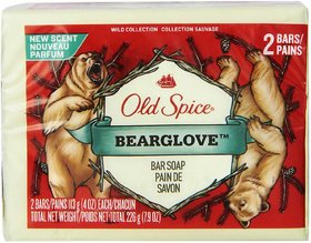 Old Spice Bearglove Bar Soap, 2 Pack - 226g (2x113g)