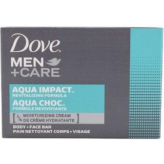 Dove Men+Care Body and Face Bar Aqua Impact Revitalizing Cream - 113g (4oz)