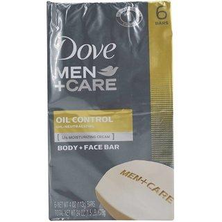 Dove Men+Care Body and Face Bar Oil Control 1/4 Moisturizing Cream - 113g (4oz)
