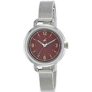 Fastrack Analog Brown Dial Girls Watch-6123SM04