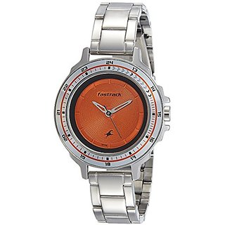 Fastrack Analog Orange Dial Womens Watch-6135SM02