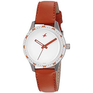Fastrack Analog White Dial Womens Watch-6078SL04