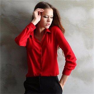 80679f565d Buy Code Yellow Women's Red Elegant Ladies Formal Shirt Online ...