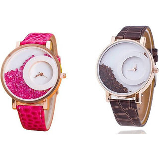mxre brown and rad analog watch for woman
