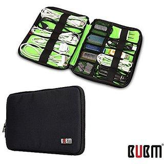 Rosette Organizer Bag Travel Case Digital Storage Bag with Zipper/ Healthcare amp Grooming Kit (Dis Black-small)