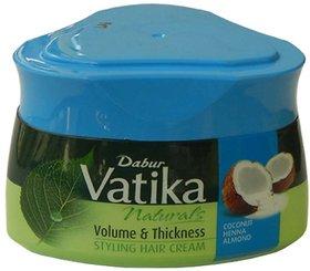 Dabur Vatika Naturals Volume  Thickness Styling Hair Cream 140Ml