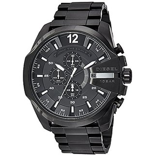 Diesel Chi Chronograph Black Dial Mens Watch - DZ4283I
