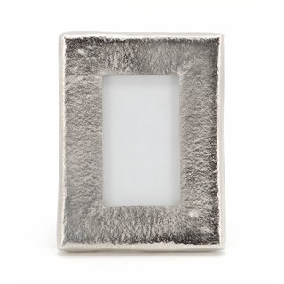 THE HOME  METALLIC PHOTO FRAME MEDIUM 8X6 SILVER SILVER 20.4X15.4X1.7 CM