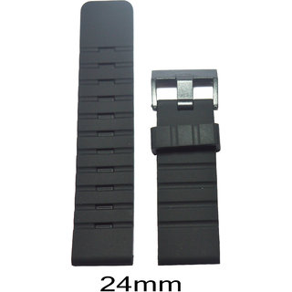 Like 24Mm Silicone Watch Strap (Black) Sif24Mm