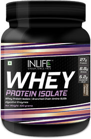 Inlife 100 Isolate Whey Protein Powder Supplement 400 G