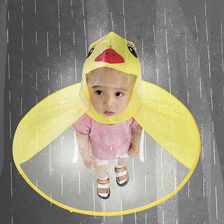 Universal Kids Cute Rain Coat UFO Children Umbrella Hat