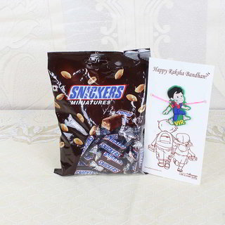 Snickers Miniatures Chocolate Pack with Vir Rakhi