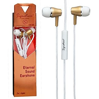 VM-55 Universal Earphone with Mic (Assorted Colors)
