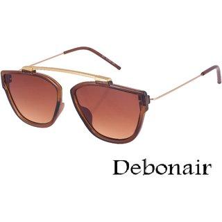 Debonair UV Protected Brown Wayfarer Sunglasses For Men And Women