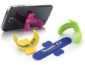 Punchline Set Of 2 Touch Silicon Mobile Phone Stand (As