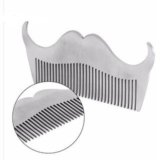QD Professional Men's mustache Beard comb Stainless Steel Beard Shaping Tool Beard Modeling Template Carding Styling Too