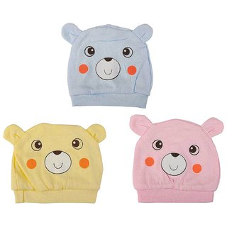 Buy Cute New Born Baby Caps Soft Stretchable Cotton ad6007cbc3f