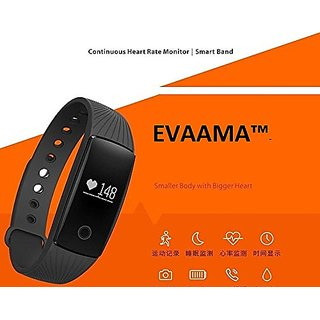 Fitness Band Heart Rate Monitor EVAAMA- EV02-SXC SOURCE Smart Bracelet Sports Health Activity Bluetooth Wristband Pedom