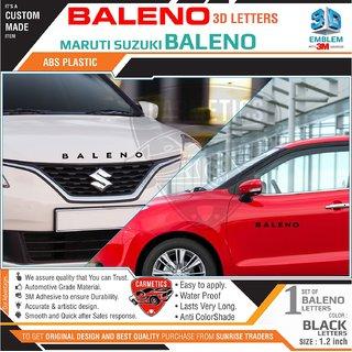 CarMetics Baleno 3D Letters for Maruti Suzuki Baleno Black