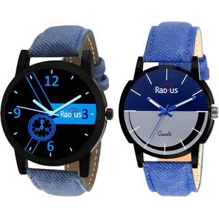 Radius Combo's of 2 Pcs Blue and Grey Dial Mens Watches