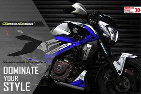 CR Decals Bajaj Dominar 400 Hyper Riding Race Kit-Royal Blue