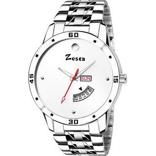 Zesta 10 Analog Watch Men Casual Metal Strips Quartz Wrist Watch Boys Fashion Round Dial Adjustable Wristwatch