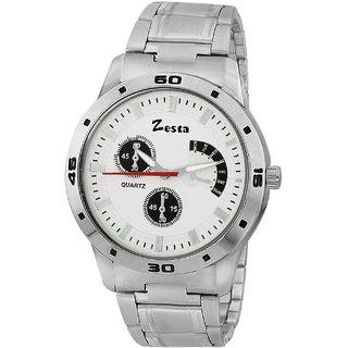 Zesta 12 Analog Watch Men Casual Metal Strips Quartz Wrist Watch Boys Fashion Round Dial Adjustable Wristwatch