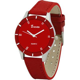 Zesta 17 analog Watch for Women (Red)