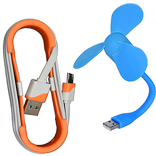 Sunshopping USB fan and Data cable combo pack (Assorted colours)