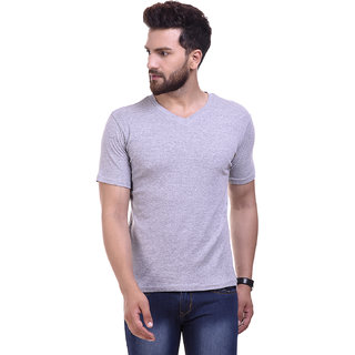 Campus Bunny Men's V-Neck Grey T-Shirt