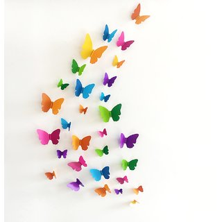 JAAMSO ROYALS Beautiful Multicolour 3D butterfly DIY creativity wall decal Wall Sticker for Home Dcor