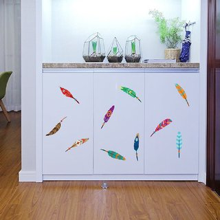 JAAMSO ROYALS Beautiful Feather Wall Sticker  Wall Sticker for Home Dcor