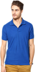 Funky Guys Royalblue Cotton Blend Polo T-Shirt