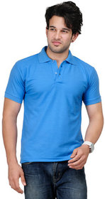 Ketex Sky Blue Polo Collar T-Shirt For Men