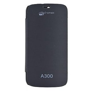 Flip Cover for Micromax Canvas Gold A300 Black