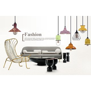JAAMSO ROYALS Colorful Chandelier Light Lamp Livingroom  Wall Sticker for Home Dcor