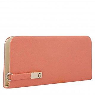 Code Yellow Women's Peach Wallet Clutch