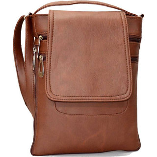 Code Yellow Women's Tan Sling Bag