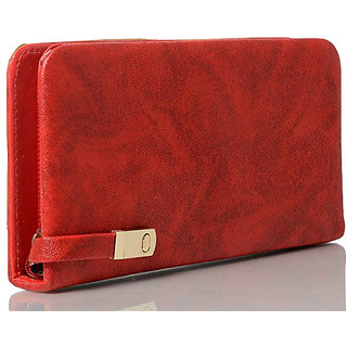 Code Yellow Womens Red Wallet Clutch
