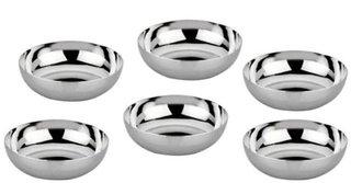 Tahiro Stainless Steel Bowls   Pack Of 6