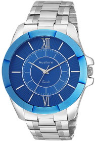 Austere Premium Quality Blue Color Analog Men's Watch With Metal Chain: AWM-DK-030703