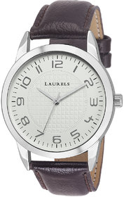 Laurels Ivory Color Analog Men's Watch With Strap: LWM-