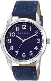 Laurels Blue Color Analog Men's Watch With Strap: LWM-D
