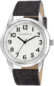 Laurels White Color Analog Men's Watch With Strap: LWM-