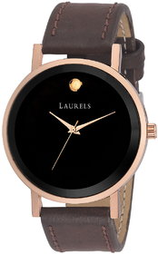 Laurels Black Color Analog Men's Watch With Strap: LWM-